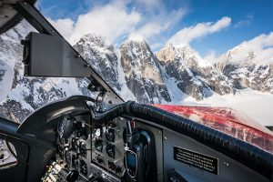 dehavilland otter flying over denali - custom alaska photo tour