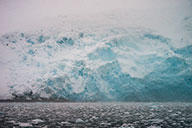 foggy scene of blackstone glacier - photograph glaciers in winter