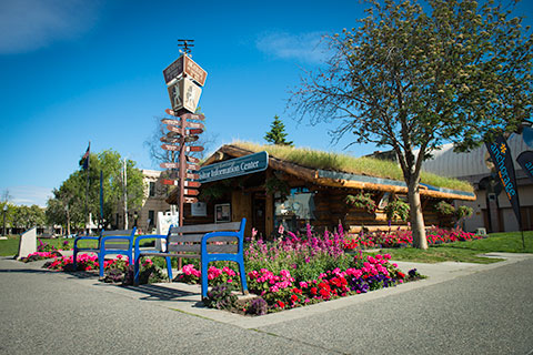 visitor log cabin - anchorage walking tour
