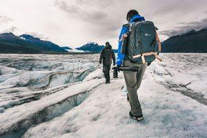 men walking on ice - knik glacier