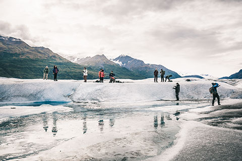 photography group - knik glacier