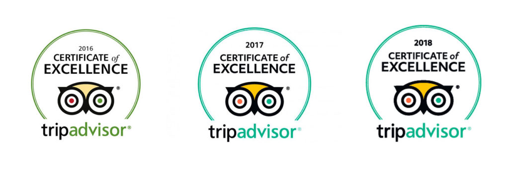 tripadvisor certificates of excellence for 2016-2018