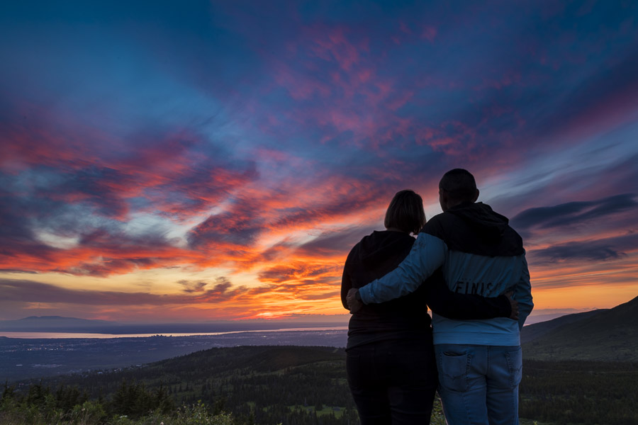 Couple watching sunset for best of 2020